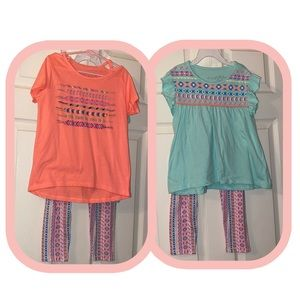 Girls 3 piece matching outfit size 10